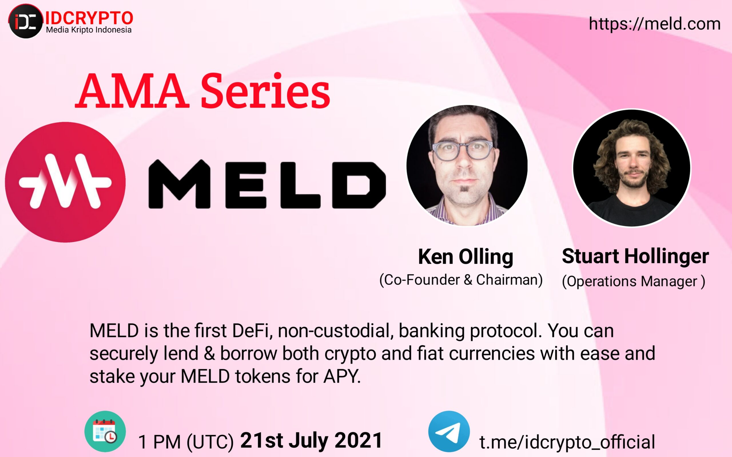 We are pleased to announce our next AMA with MELD on Wednesday, July 21st, 2021 at 1 PM UTC  20:00 GMT+7